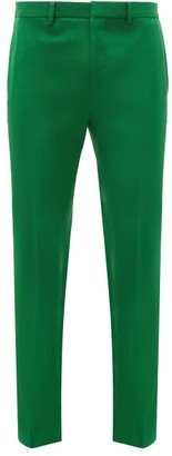 Givenchy Slit-ankles Tailored Trousers - Green