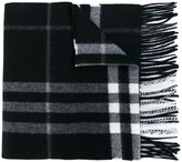 Burberry fringed checked scarf - men - Cashmere - One Size