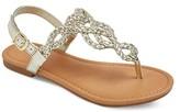 Cat & Jack Girls' Liddie Braided Slide Sandals Cat & Jack - Gold