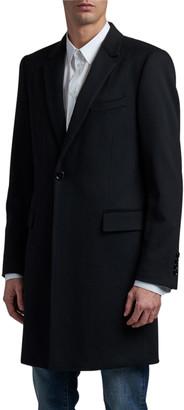 Dolce & Gabbana Men's Solid Wool-Cashmere Topcoat
