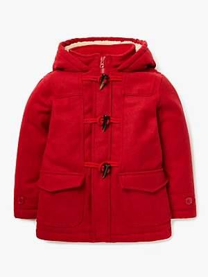 John Lewis & Partners Boys' Gully Duffle Coat, Red