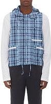 Engineered Garments MEN'S NORTH WIND PLAID VEST-BLUE SIZE M
