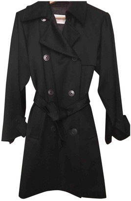 Max Mara Black Wool Trench Coat for Women