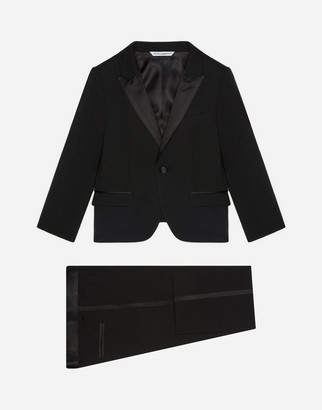 Dolce & Gabbana Single-Breasted Suit In Stretch Wool Canvas