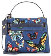 Valentino Garavani My Rockstud appliqué denim shoulder bag