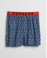 Express palm tree print exposed waistband woven boxers