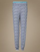 Marks and Spencer Cuffed Striped Pyjama Bottoms