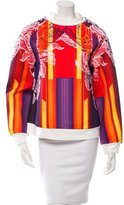 Peter Pilotto Orchid Beam Neoprene Sweatshirt w/ Tags