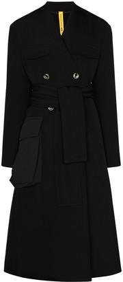Moncler 1952 Large Pocket Belted Coat