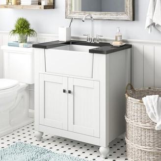 "Laurel Foundry Modern Farmhouse Chumley 31"" Single Bathroom Vanity Base Finish: White"