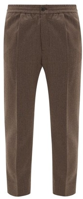 Ami Cropped Wool-fresco Suit Trousers - Light Brown