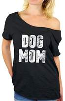 Awkward Styles Women's Dog Mom Off Shoulder Tops T Shirt Dog Lover Quote Mom of Dogs Gift for Mom