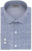Kenneth Cole Reaction Men's Technicole Slim Fit Print Spread Collar Dress Shirt