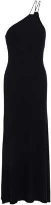 Enza Costa One-shoulder Ribbed Jersey Midi Dress