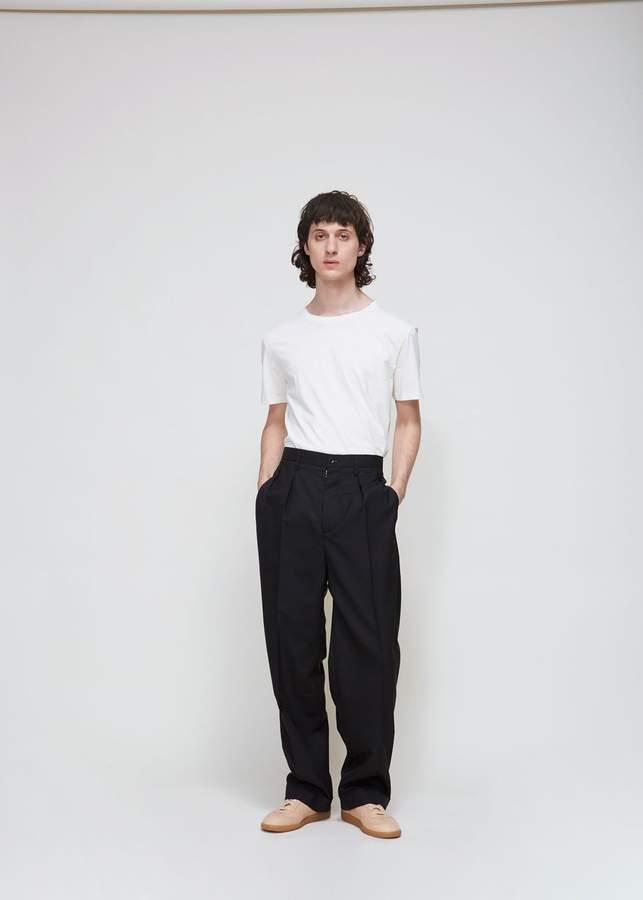 Maison Margiela Wool Poplin Straight Leg Trouser