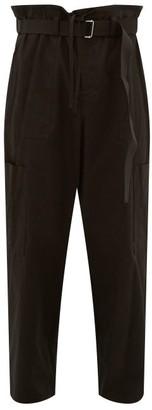 Ambush Belted Cotton-poplin Cargo Trousers - Black