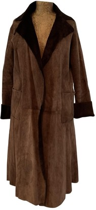 Ohne Titel Brown Shearling Coat for Women