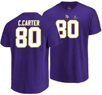 Cris Majestic Men Carter Minnesota Vikings Hall of Fame Eligible Receiver Triple Peak T-Shirt
