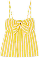 J.Crew Mireille Knotted Striped Cotton-poplin Camisole - Yellow