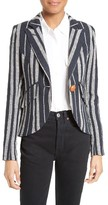 Smythe Women's Stripe Linen Blazer