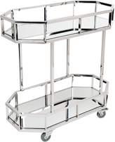 CAFE Lighting & Living Bar Cabinets & Bar Carts Brooklyn Drinks Trolley, Silver