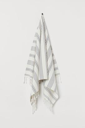 H&M Striped Bath Towel - White