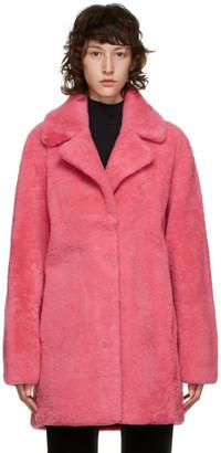 Yves Salomon Meteo Yves Salomon - Meteo Pink Shearling Coat