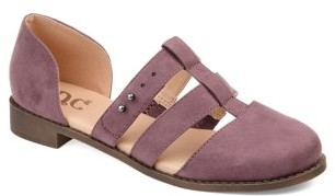 Brinley Co. Womens Caged Round Toe Flats