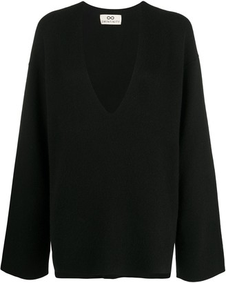 Sminfinity Long-Sleeve Oversize Knitted Jumper