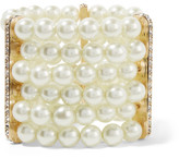 Kenneth Jay Lane Faux Pearl, Crystal And Gold-plated Bracelet - one size