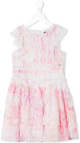 Roberto Cavalli printed ruffled dress - kids - Silk/Acetate/Cupro - 2 yrs