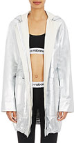 Paco Rabanne Women's Leather Hooded Parka-SILVER