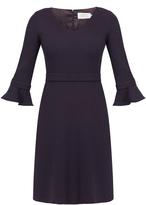 Goat Chiara V-Neck Ruffle Cuff Dress