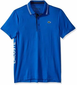 Lacoste Mens Sport Short Sleeve Ultra Dry Side Logo Semi Fancy Golf Polo Polo Shirt