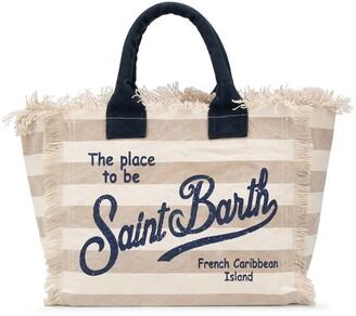 MC2 Saint Barth Logo Striped Tote