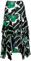 By Malene Birger Mela printed chiffon midi skirt