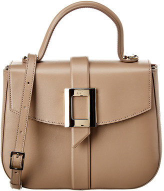 Roger Vivier Beau Leather Shoulder Bag