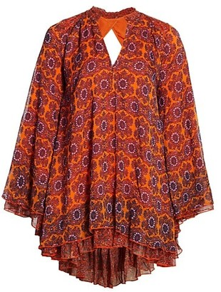 Free People Gabi Printed Tunic