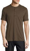 Helmut Lang Short-Sleeve Henley Shirt