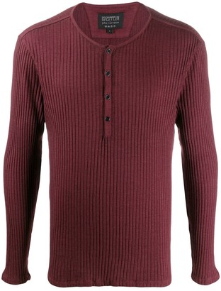 John Varvatos Long-Sleeve Ribbed Top