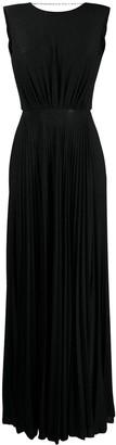 Elisabetta Franchi Glitter-Embellished Pleated Gown