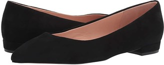 J.Crew Pointy Toe Flat in Suede (Black) Women's Shoes