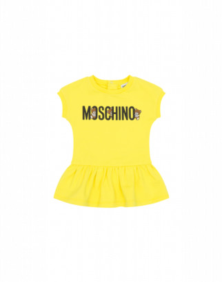 Moschino Teddy Logo Dress Unisex Yellow Size 3a It - (3y Us)