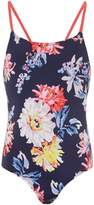Joules Girls Floral One Piece Swimsuit