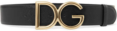 Dolce & Gabbana Gold-plated Textured-leather Belt
