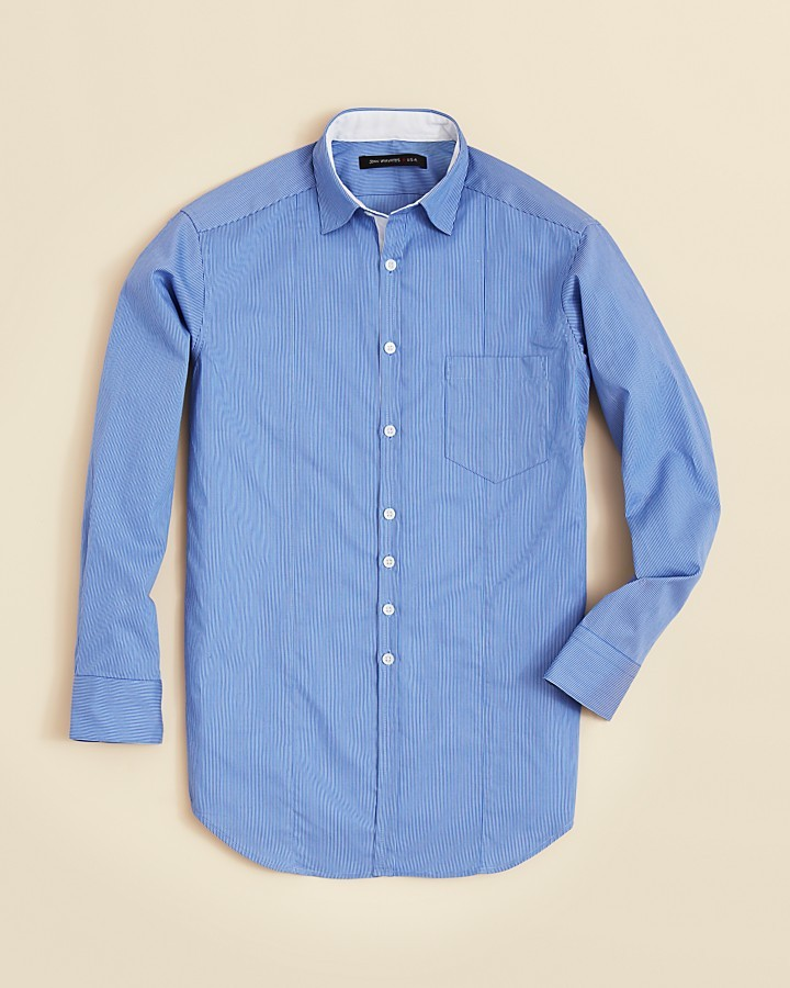 John Varvatos Boys' Ministripe Sport Shirt - Sizes 8-20