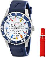 Nautica Men's NAD13502G NST 07 Flag Multi Analog Display Japanese Quartz Watch