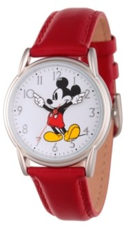 EWatchFactory Disney Mickey Mouse Women's Silver Cardiff Alloy Watch
