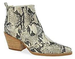 Sam Edelman Women's Winona Snakeskin Print Leather Booties