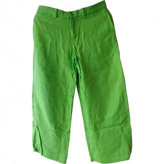 Ralph Lauren Green Linen Trousers